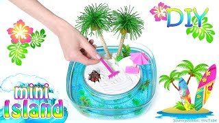 How To Make A Miniature Island In Ocean Zen Garden – DIY Stress-Relieving Desk Decoration