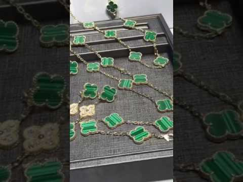 van cleef arpels Magic Alhambra Malachite  jewelry