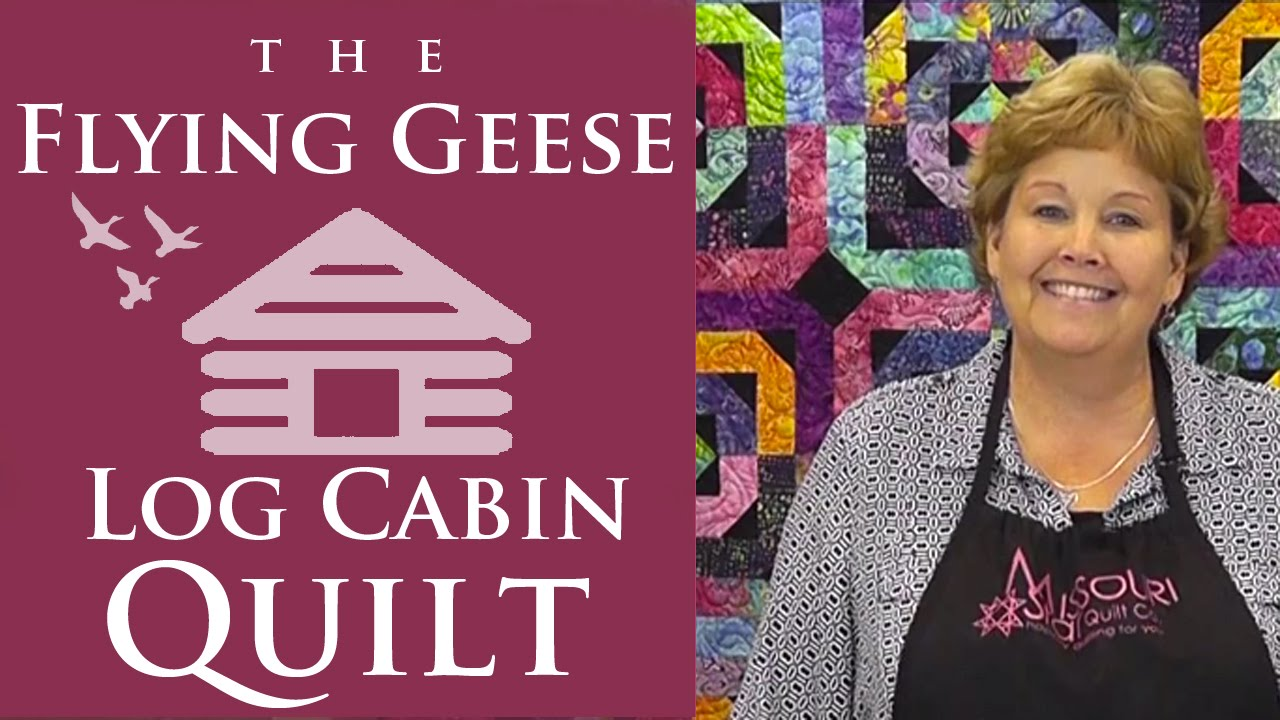 The Flying Geese Log Cabin Quilt: Easy Quilting Tutorial with ... : easy log cabin quilt - Adamdwight.com