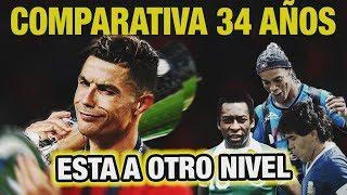 Cristiano Ronaldo hace lo IMPOSIBLE (Comparativa 34 años CR7 vs Pele, Maradona, Ronaldinho y más)
