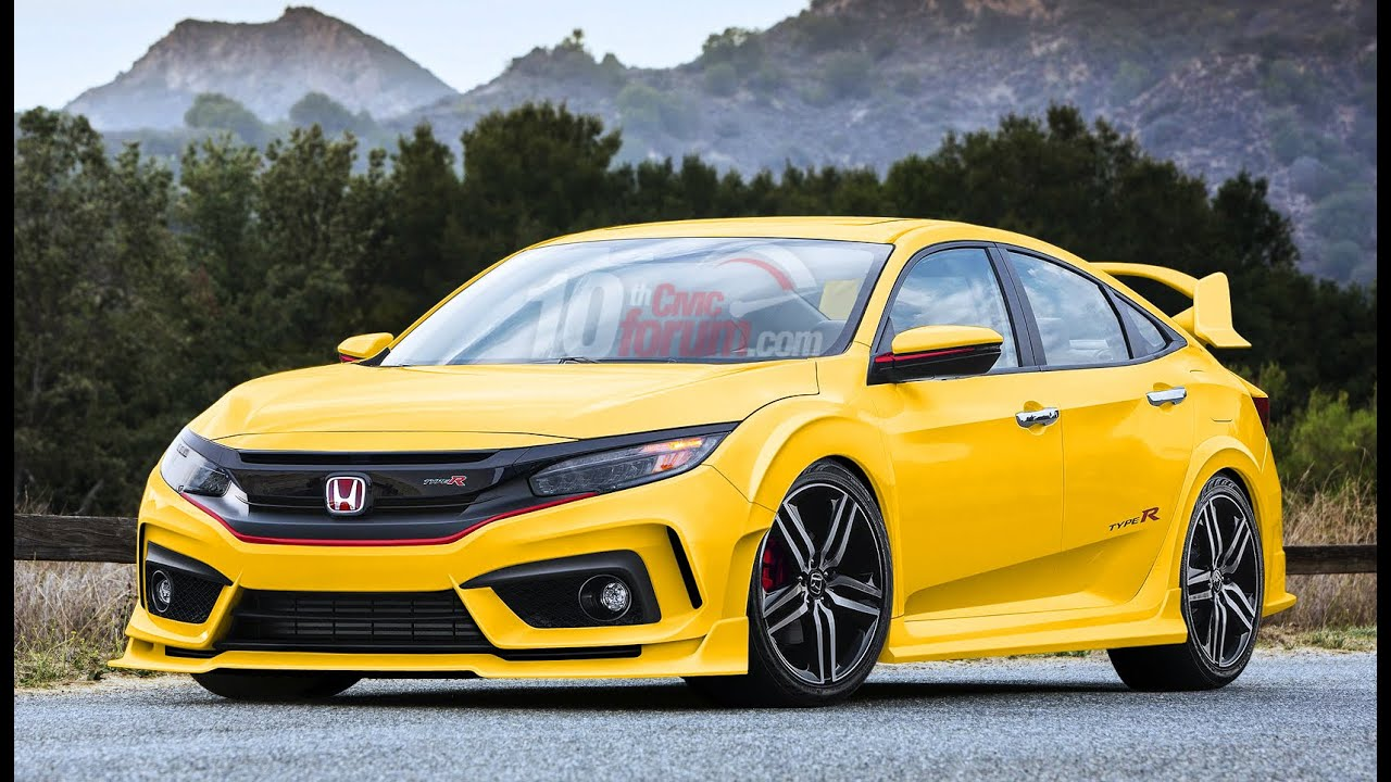 2016 honda civic type r sedan youtube. Black Bedroom Furniture Sets. Home Design Ideas