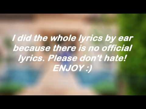 Justin Bieber Lyrics video of I'm the one