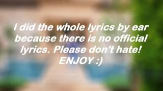 Justin Bieber Lyrics video of I'm the one