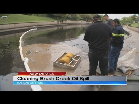 Cleanup continues after cooking oil spill near Brush Creek