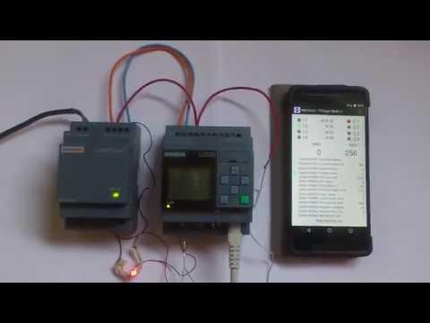 HMI Droid And Siemens LOGO! 0BA8 - First Test