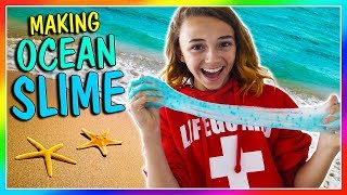 MAKING OCEAN SLIME! | We Are The Davises