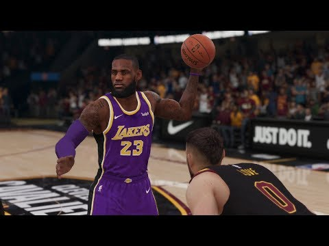 NBA LIVE 19 Los Angeles Lakers Vs Cleveland Cavaliers 1st Half (NBA LIVE 19 Gameplay CPU Xbox One)