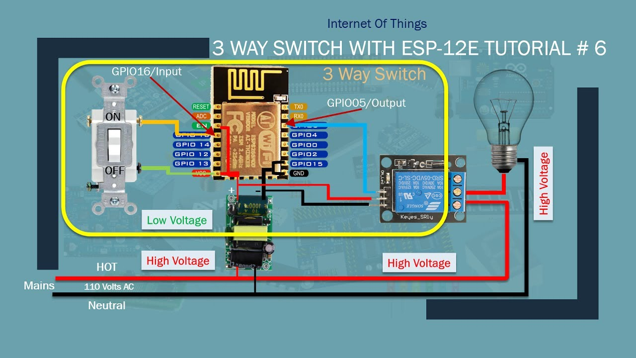 3way Switch Wiring Diagram Tropical Rainforest Soil Iot Diy Home Automation With Alexa | 3 Way Part 1| Tutorial # 6 - Youtube