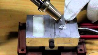 Пайка медных проводов на стекле с помощью ультразвукового паяльника(, 2013-10-08T15:39:17.000Z)