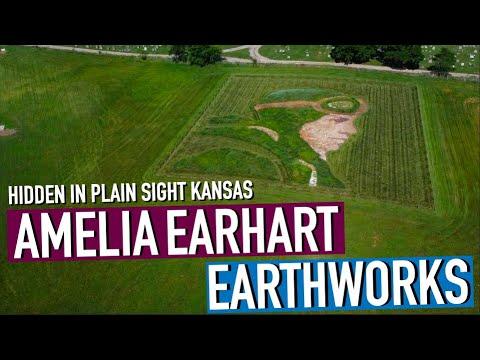 Hidden In Plain Sight:   Amelia Earhart Earthworks (FLY OVER & DRONE)