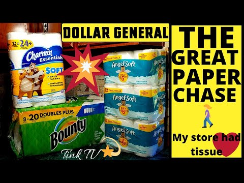 💥 DOLLAR GENERAL| THE GREAT PAPER CHASE🏃MY STORE HAD TISSUE & PAPER TOWELS😍DOLLAR GENERAL COUPONING💥