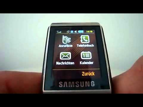 Kurztest Samsung S9110 Watchphone