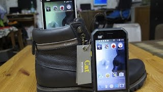 обзор с падениями защищённых смартфонов Caterpillar Cat S40 и S30