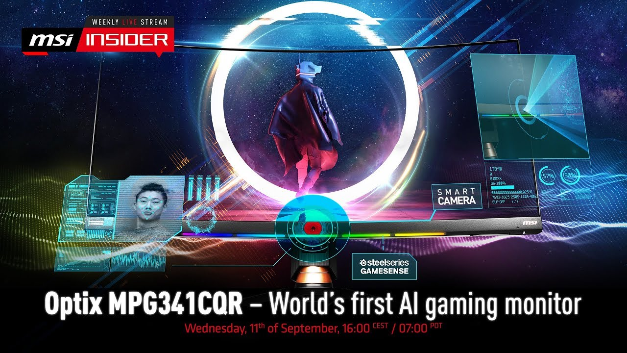 MPG341CQR - The world's first AI gaming monitor