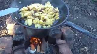 Жареная картошка с салом. Как работает щепочница