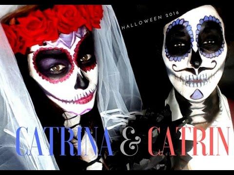 Catrin Catrina Makeup Tutorial Halloween 2016 Youtube