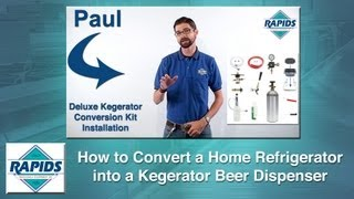 How To Build A Kegerator | Diy Conversion Of A Home Refrigerator Into A Beer Dispenser Video