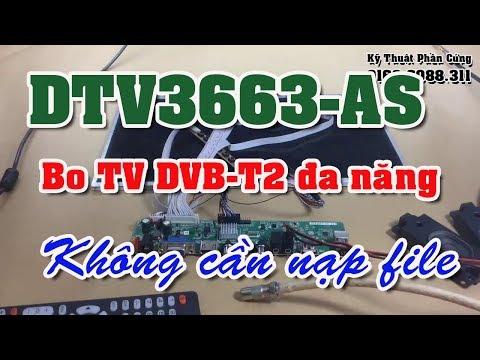 DTV3663-AS DVB-T2 Bo TV đa năng không cần nạp file