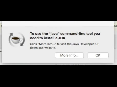 "To use the ""java"" command-line tool you need to install a JDK. El Capitan OS X FIX"
