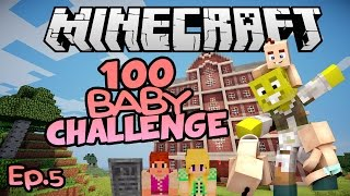 First Death, Second Floor & BERTHA | Minecraft 100 Baby Challenge Ep.5