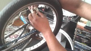 bmx rims easy replacement [how to]