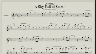 Coldplay – A Sky Full of Stars (sheet music for saxophone alto)