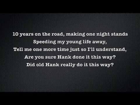 Waylon Jennings- Are You Sure Hank Done It This Way (Lyrics)