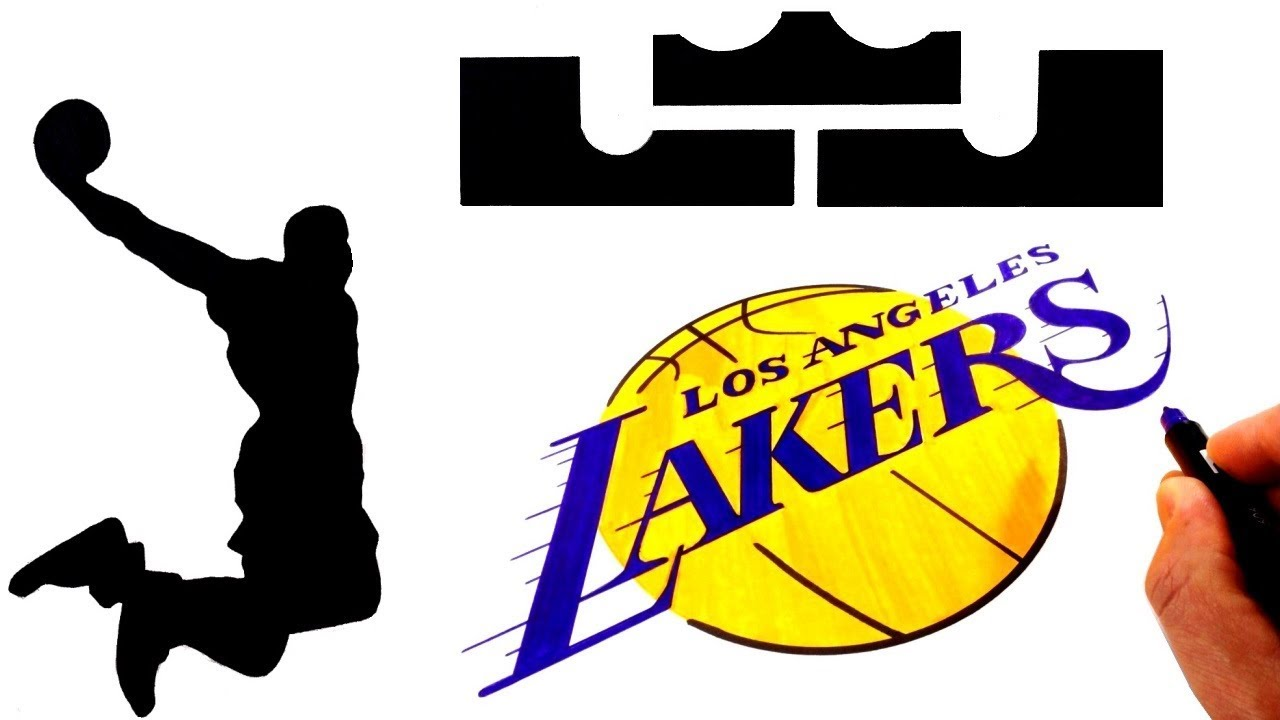 How To Draw The Lebron James And L A Lakers Logos Youtube