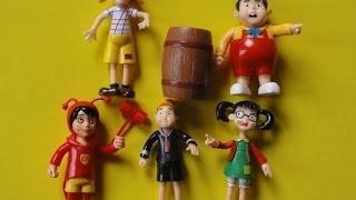 CHAPOLIM COLORADO, CHAVES, KIKO, CHIQUINHA, NHONHO, EL CHAVO DEL OCHO, litlle colorful plastic #toys
