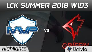 MVP vs GRF Highlights Game 1 LCK Summer 2018 MVP vs Griffin by Onivia