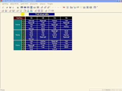 10 bước xếp TKB - Bước 3. Nhập, sửa, điều chỉnh các ràng buộc chính của thời khóa biểu - P2