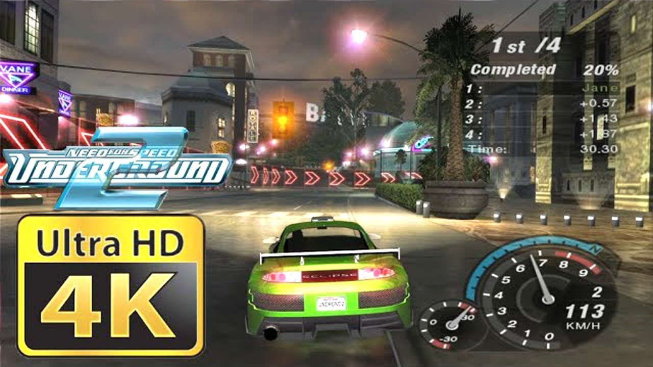 Old Games In 4k Need For Speed Underground 2 Youtube