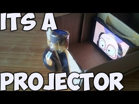 How to make Projector at home in 5 minutes | DIY Projector without magnifying glass