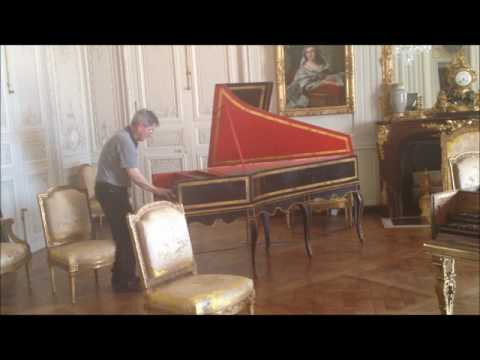 Expert Performing French King Louis XIV's 400 Years Old Piano in Palace of Versailles