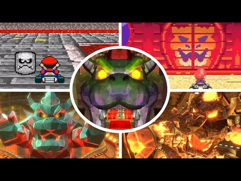 Evolution of Bowser's Castle in Mario Kart (1992-2017)