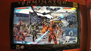 Terminator Salvation First Person Shooter 2 Player Arcade Game - 4 Kids Playing The Video Game