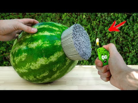 EXPERIMENT: A lot of Sparklers vs Watermelon