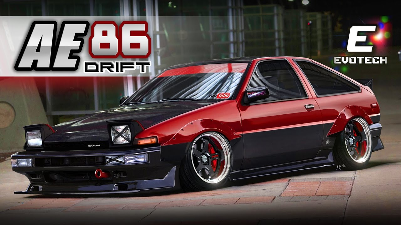 toyota corolla ae86 virtual tuning photoshop render evo5. Black Bedroom Furniture Sets. Home Design Ideas