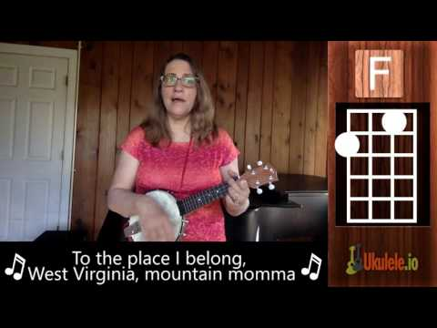 Take Me Home Country Roads Ukulele Lesson Tutorial - 21 Songs in 6 Days: Learn Ukulele the Easy Way