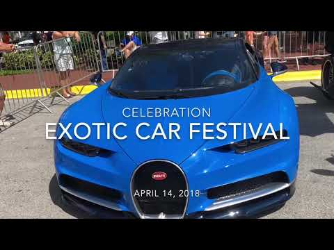 2018 Celebration Exotic Car Festival. Antique, exotic, movie and new cars. The best in the world!