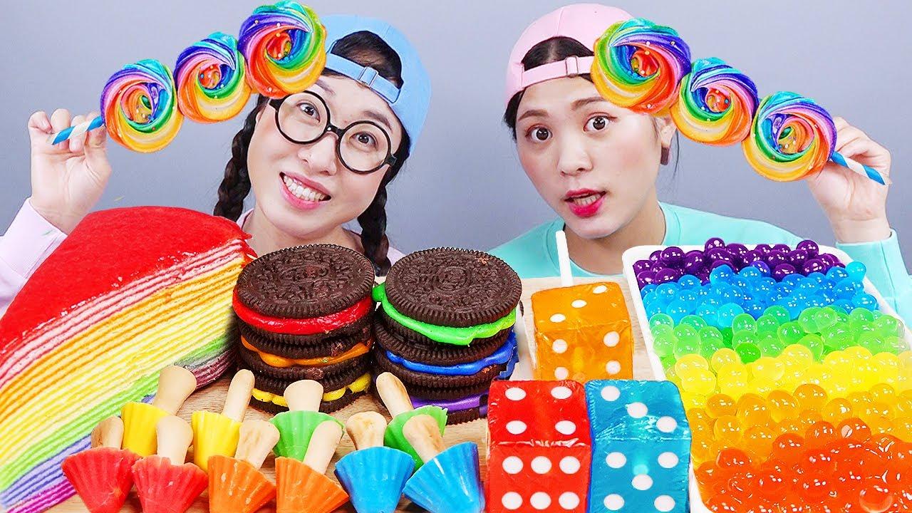 Download Rainbow Food Dessert Mukbang DONA
