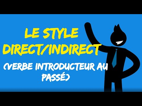 Style Direct Indirect 5 6 Verbe Introducteur Au Passe Youtube