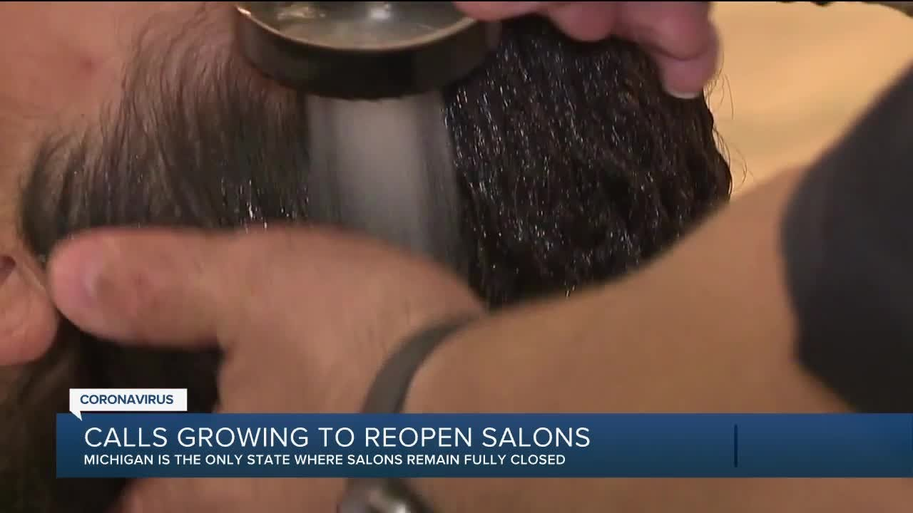 Calls growing to reopen Salons in Michigan
