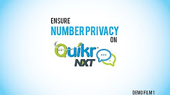 Ensure Number Privacy on Quikr Nxt - Demo Film