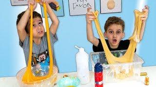 Como Fazer Slime de 3 Cores de Cola Glitter - Paulinho e Toquinho