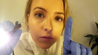 ASMR Cranial Nerve Exam Role Play with Latex Gloves and Personal Attention thumbnail