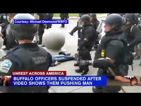 Buffalo police suspended after video shows 75-year-old man being ...