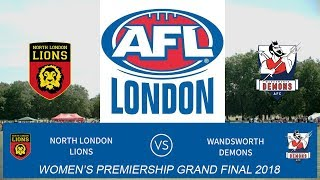 AFL London Women's Premiership Grand Final 2018