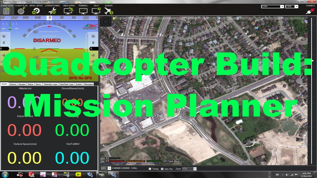 Quadcopter Build: Setting Up Mission Planner