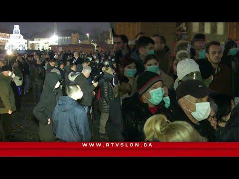 Građani Tuzle održali proteste : Hoćemo da dišemo punim plućima - 15.01.2020.